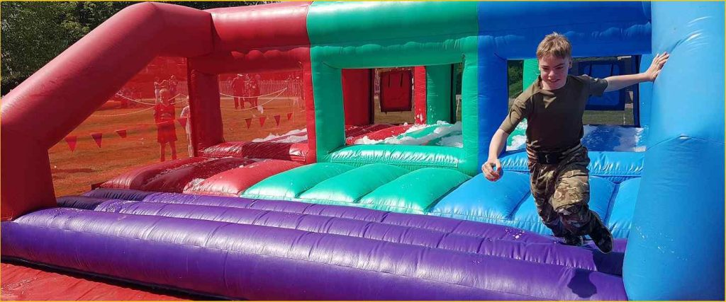a child taking part in an activity day